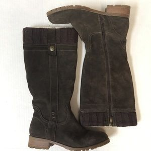 BJORNDAL women's suede leather boots size 10